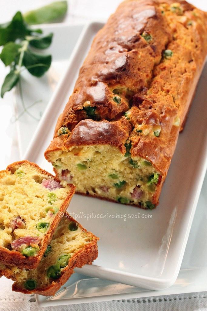 Cake con salame e piselli