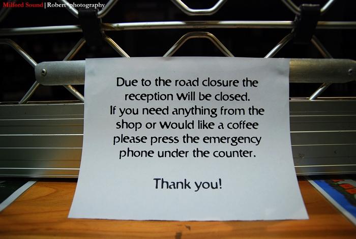 Reception closed
