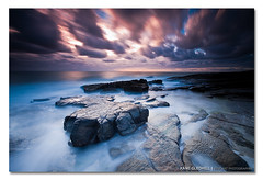 ---[   ]--------- ([ Kane ]) Tags: ocean longexposure morning pink blue light sea sky seascape colour water clouds landscape dawn rocks waves purple australia qld queensland noosa kane sunshinecoast caloundra cokin nd400 gledhill pointcartwright marcoola canon50d kanegledhill pointarkwright kanegledhillphotography