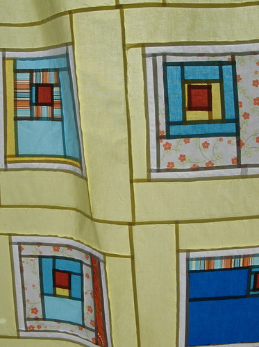 """All Squared Up"" Quilt- Detail of back of Top"