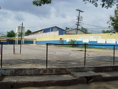A piece of concrete is where school athletes train for long jump and high jump in Jamaica (bbcworldservice) Tags: world school girls boys field athletics downtown track stadium assignment champs christopher coke lord kingston national bbc jamaica drug service athletes 2010 dudus