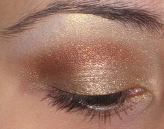 Meow Gold 2 diff lighting (AxSDenied) Tags: brown gold metallic makeup collection mineral meow cosmetics eyeshadow shimmer eotd egyptiantreasure