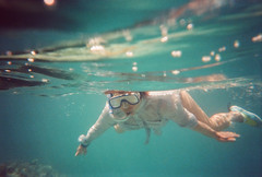 (kakafletik) Tags: blue red sea woman fish water swimming underwater shot deep corals sinai nuweiba snorking
