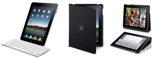 Fotografía de algunos de los accesorios para el iPad