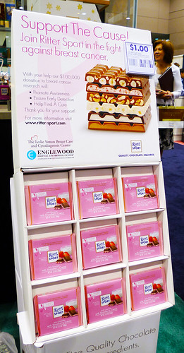 Ritter Sport Strawberry Creme Display