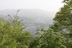 御前山の山頂からの眺望