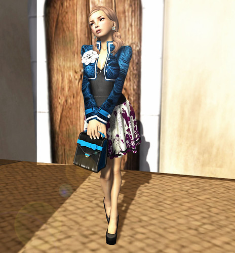 CS - The Secret Store - Pospicle Dress - Bloom & Eglantine - Deep Blue