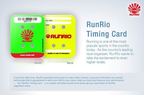 runrio timing card
