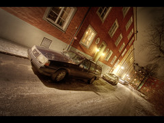 Still missing the snow (Kaj Bjurman) Tags: winter cold cars architecture night eos sweden stockholm sverige hdr kaj vasastan cs3 photomatix rdabergen 40d bjurman