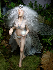 #83 Lluna ~ Moonbeam Fairy (Nenfar Blanco) Tags: sculpture art doll handmade oneofakind ooak polymerclay fairy moonbeam faerie hada nenufarblanco