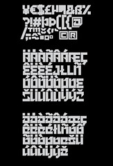 Kvant typeface (Fontfabric) Tags: art geometric smart modern magazine poster square logo typography design cool flyer funny mechanical mesh box masculine decorative web creative minimal retro cover american engraving round signage fancy font type letter techno strong block unusual lovely elegant build shape heavy rounded blackletter typeface fashionable constructed facet innovative idiosyncratic