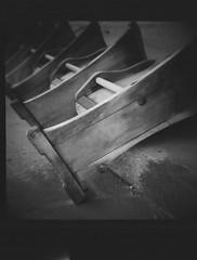 row (spanaut) Tags: vienna wien wood bw horse abandoned kodak tmax racing seats 400 dianaf trabrennbahn krieau 400tmx ft0901