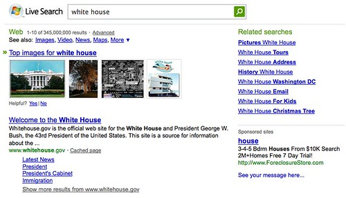 Live Search - White House