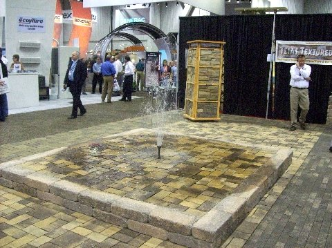 Recycled or Reclaimed Brick and recycled water for this fountain