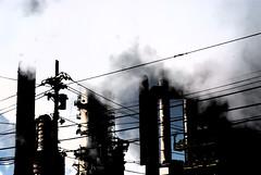 steamy steamy (wookywookywoo) Tags: contrast nikon industrial factory power smoke indiana steam powerlines bp refinery whiting d80