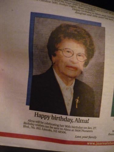 Happy Birthday, Alma