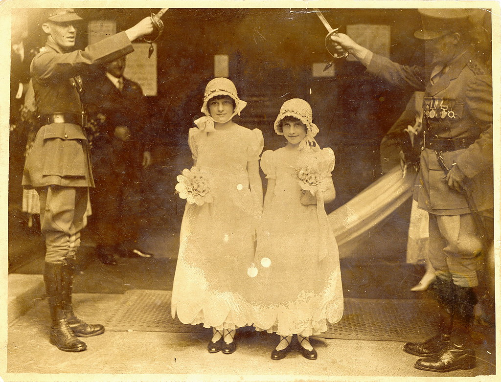 1920s Flower Girls at a British Army Wedding