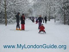 Winter scenes London