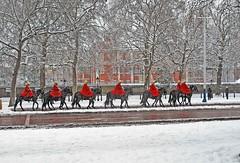 Horse guards in the Mall (brian.mickey) Tags: snow london winterinlondon snowylondon touristlondon