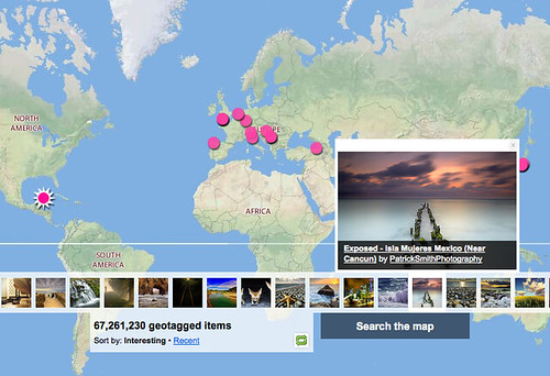 Explore everyone's photos on a Map