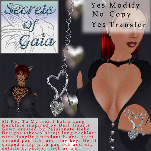 Secrets of Gaia Key To My Heart Necklace Silver