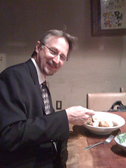 Gary is eating Japanese curry and rice