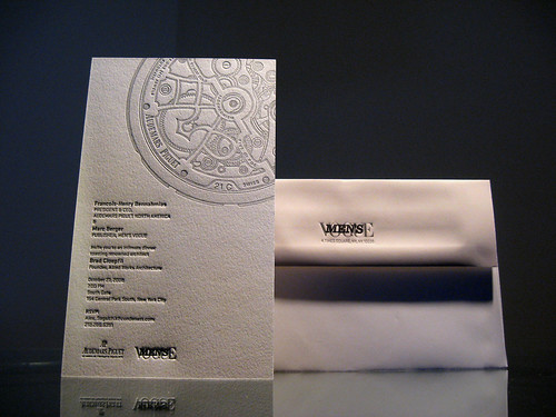 Men's Vogue Letterpress Invitation