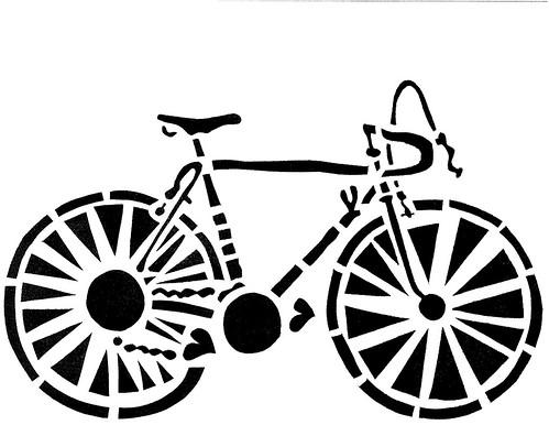 Janet Bike Girl Open Studio Stencil Archive