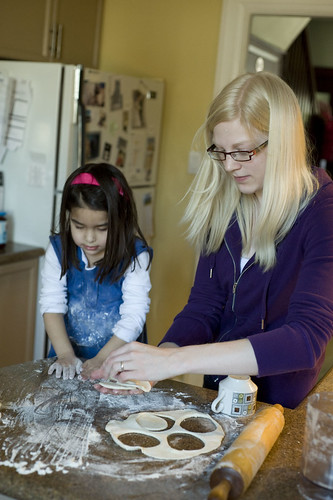 Me and Ava making hamantashen.