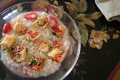 congee with tofu breakfast