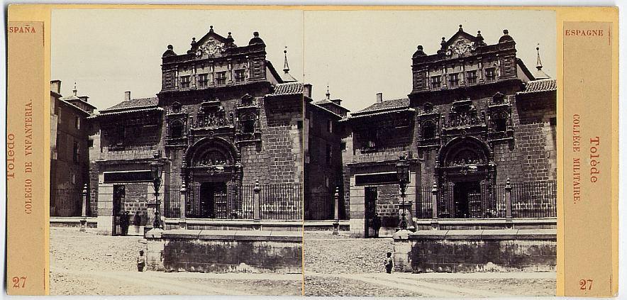 Fotografía estereoscópica de Toledo. Museo de Santa Cruz. Foto E. Làmy