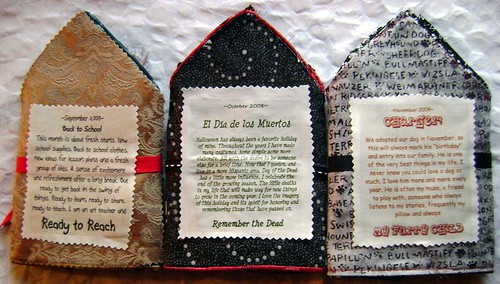 Beaded Journal Project first 3 months ~backs~