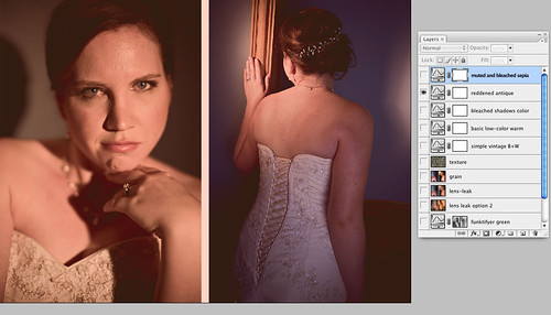 reddened antique layer - Vintage photoshop action