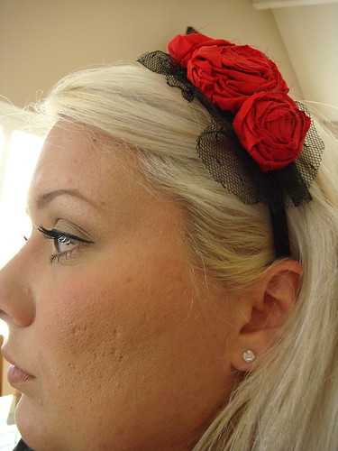 Fancy Silk Rosette hair
