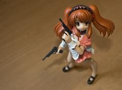 Mikuru Asahina: Battle Combat Waitress (animatech) Tags: toys waitress figures pvc fraulein haruhi mikuru revoltech mikuruasahina fullyposeablefigures
