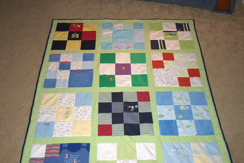Ewan's quilt, top end