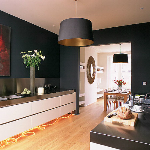 Modern black kitchen: Farrow & Ball's 'Off-Black'