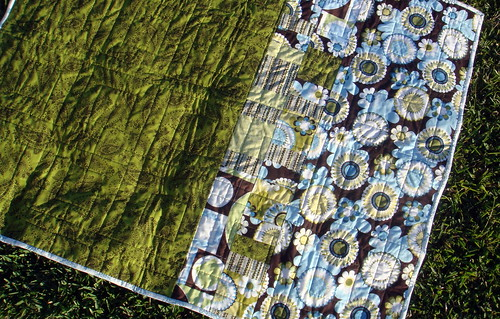 squares quilt backside