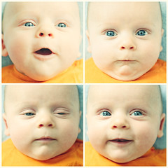 Baby faces (manganite) Tags: family boy portrait people orange baby color cute boys topf25 colors face kids digital photoshop mouth germany children square de geotagged iso200 kid interestingness xpro eyes nikon colorful europe soft bonn dof child bright bokeh tl head mosaic young vivid explore newborn highsaturation cropped highkey d200 nikkor dslr f25 day68 68 lightroom leander 50mmf18 l05 northrhinewestphalia takuma nikond200 interestingness322 i500 manganite colorefexpro 1250sec gluckstrase date:month=april date:day=10 geo:lat=50733225 date:year=2009 leandertakuma 1250secatf25 format:orientation=square format:ratio=11 geo:lon=7090252 familygetty2010