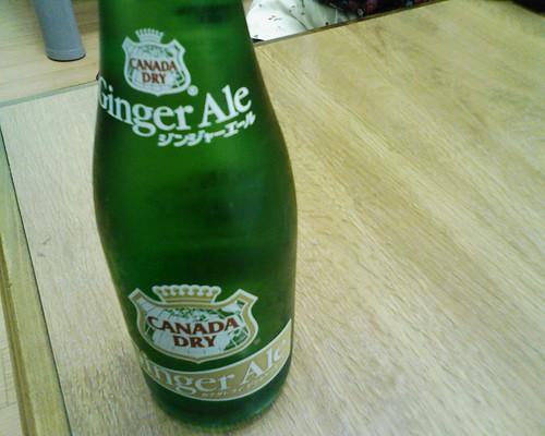 瓶のジンジャーエール