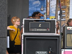 hayley checking out katy. (calmdownlove) Tags: texas tour katy williams houston warped perry hayley 08 paramore