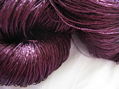 purple laceweight silk