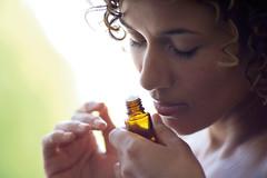 Inhaling Essential Oils