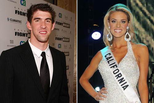 Carrie Prejean and Michael Phelps