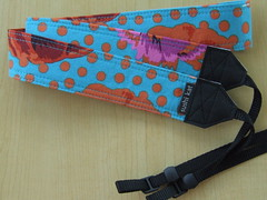 custom camera strap - kaffe fassett's big flowers