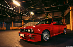 ///M3. (Denniske) Tags: red canon rouge eos angle wide sigma m bmw mm m3 1020 rood rosso e30 f456 rt 40d rotrossorougerood