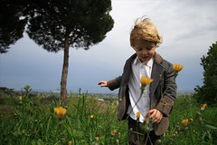 Gabriel (Tibo*) Tags: flower fleur grass vent flor viento niño champ petit herbe hierba