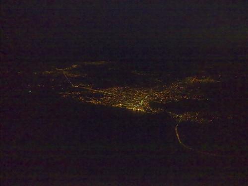 Nador, Marruecos, anocheciendo