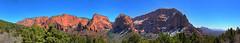 Mt Zion HDR Panorama (fPat) Tags: trees light shadow sky panorama orange mountain color utah nikon exposure tripod handheld multiple zion hdr mesa mtzion mountzion d80