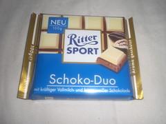 Ritter Sport Schoko-Duo (Like_the_Grand_Canyon) Tags: white bar germany candy sweet chocolate german plain weiss schokolade choco neu tafel vollmilch schoko weisse schoki